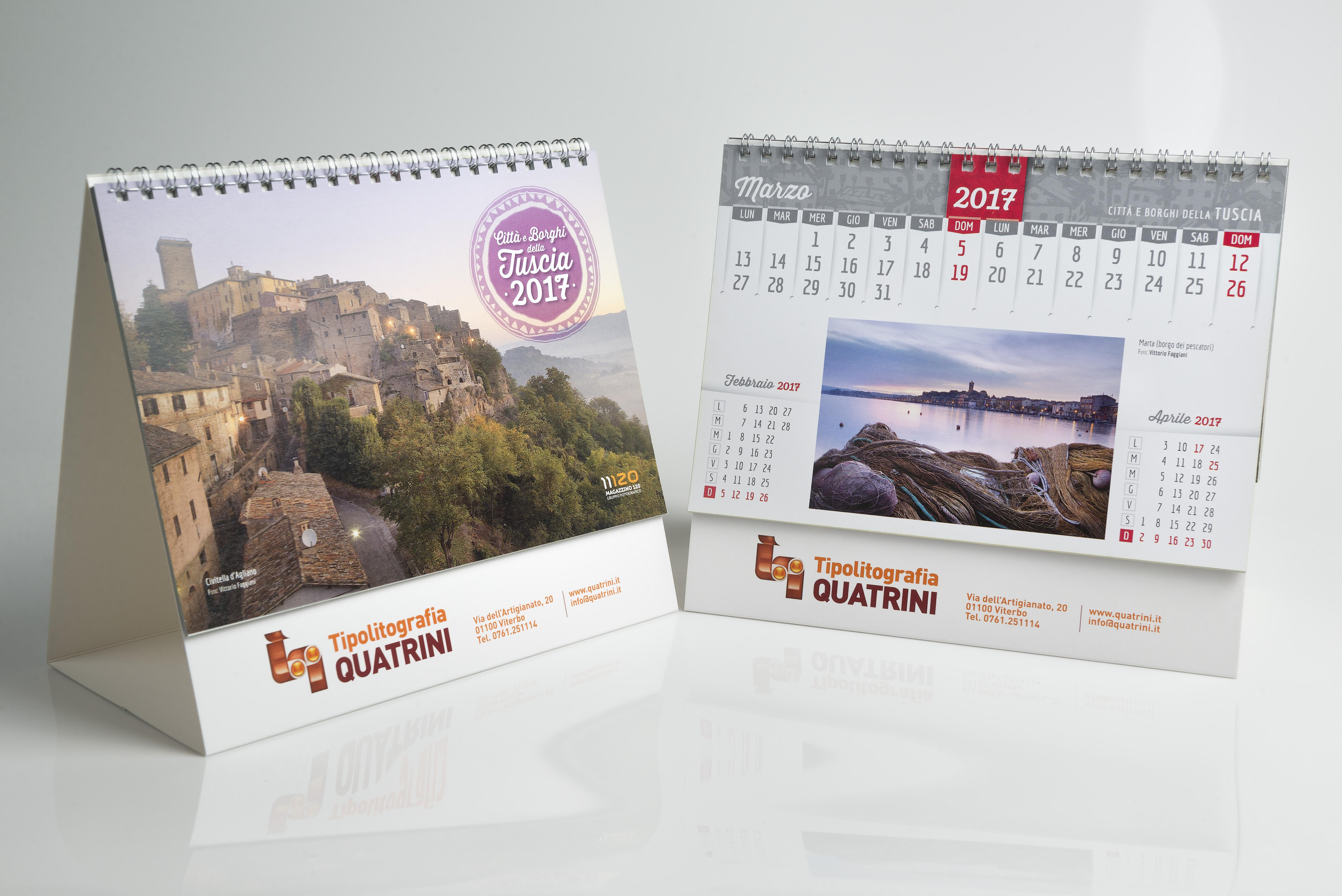 Calendario da tavolo quatrini